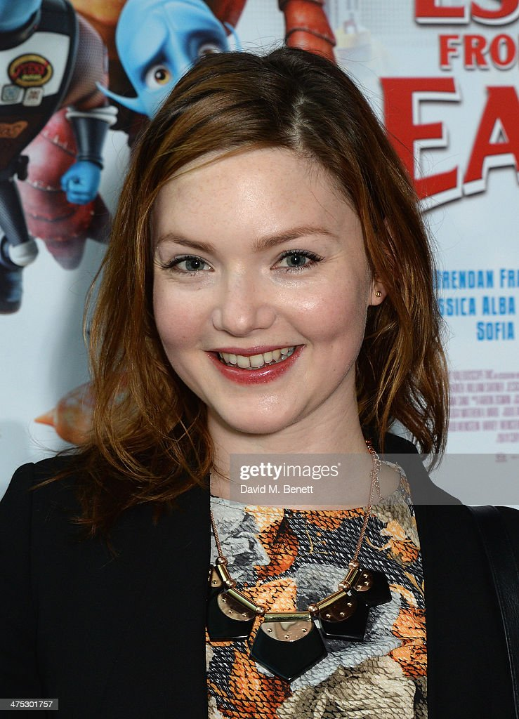 Holliday Grainger attends a VIP screening of Harvey Weinstein's 'Escape From Planet Earth' at The W Hotel on February 27, 2014 in London, England.