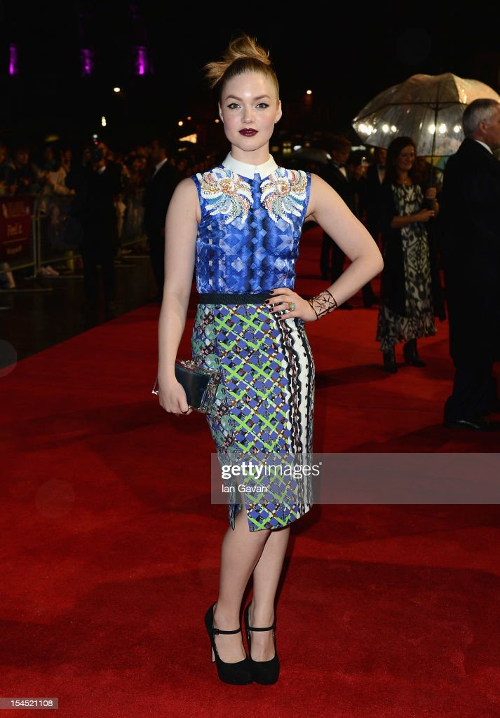 Holliday Grainger attends the Closing Night Gala of 'Great Expectations' during the 56th BFI London Film Festival at Odeon Leicester Square on October 21, 2012 in London, England.