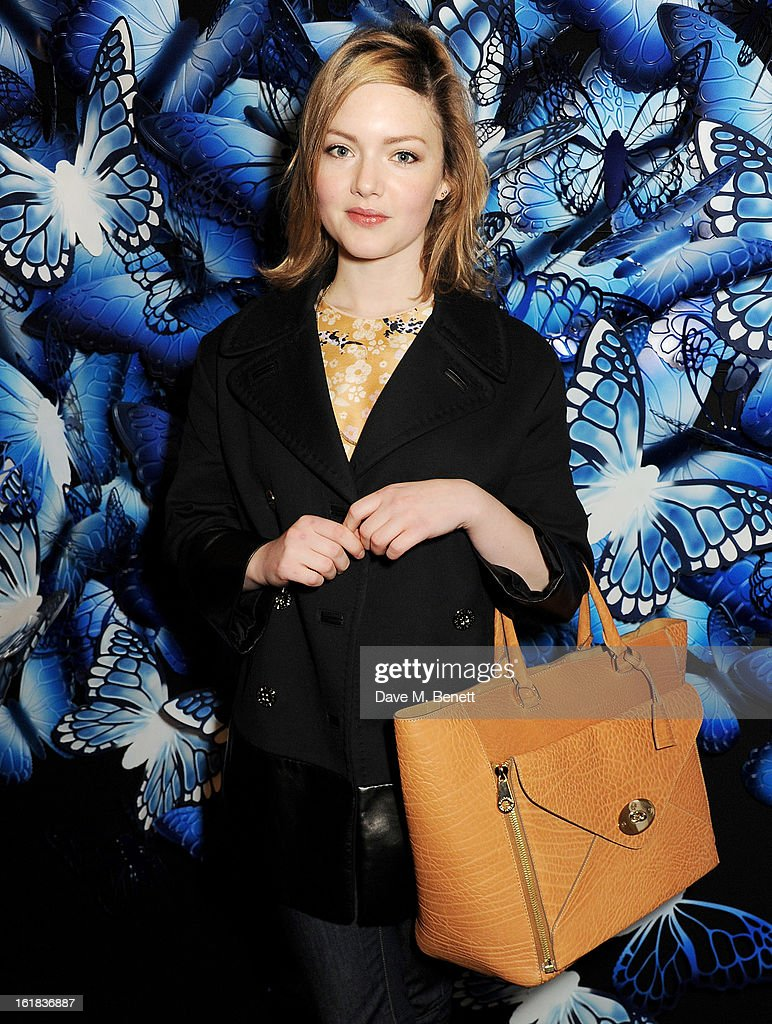 Holliday Grainger attends the Mulberry Autumn Winter 2013 show during London Fashion Week at Claridge's Hotel on February 17, 2013 in London, England.
