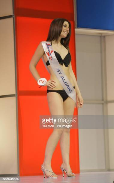 Hollie Bailey Miss St Albans one of the contestants during the Grand Final of Miss Great Britain held at Grosvenor House hotel in central London