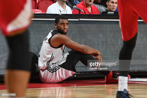 Hollis Thompson of the LA Clippers waits to get in the 2017 NBA Las Vegas Summer League game against the Miami Heat on July 13 2017 at the Thomas...