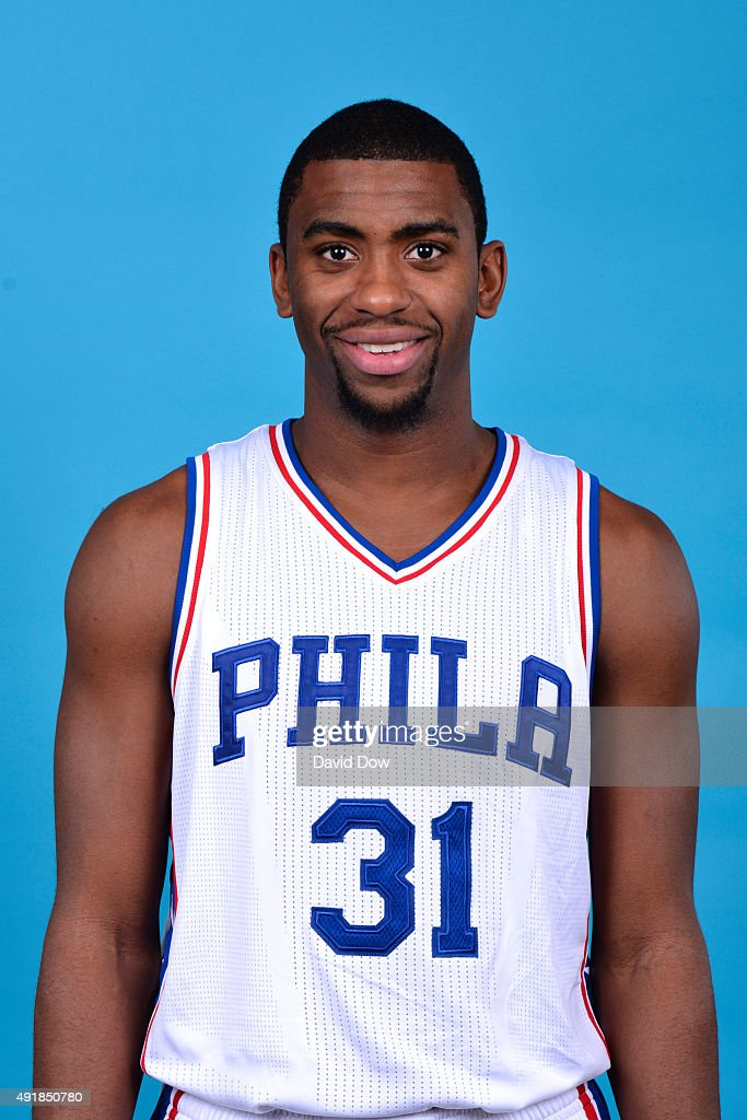 <a gi-track='captionPersonalityLinkClicked' href=/galleries/search?phrase=Hollis+Thompson&family=editorial&specificpeople=6586021 ng-click='$event.stopPropagation()'>Hollis Thompson</a> #31 of the Philadelphia 76ers poses for a photo during media day on September 28, 2015 in Galloway, New Jersey
