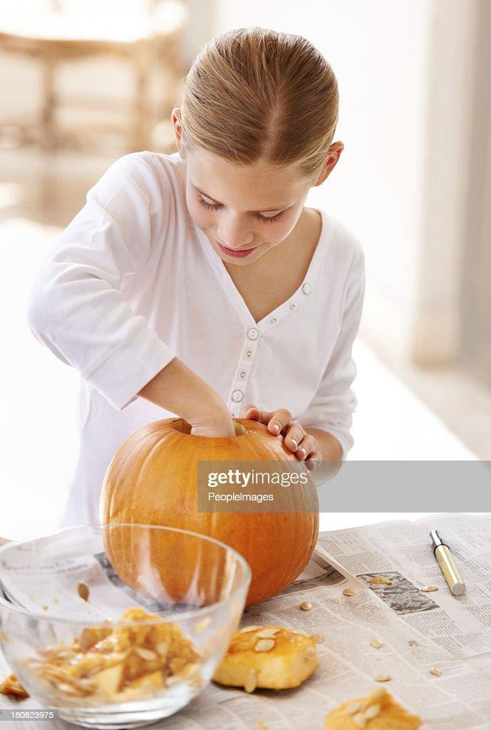 Holloween out a pumpkin for halloween
