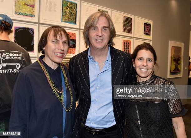 Holly Applebound Kevin Hart and Sally Eberg attend the IFPDA Fine Art Print Fair Opening Preview at The Jacob K Javits Convention Center on October...