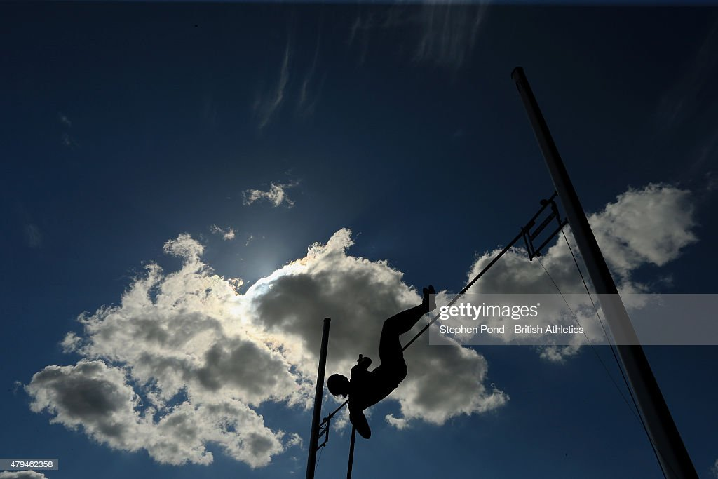 <a gi-track='captionPersonalityLinkClicked' href=/galleries/search?phrase=Holly+Bradshaw&family=editorial&specificpeople=5910118 ng-click='$event.stopPropagation()'>Holly Bradshaw</a> of Great Britain jumps in the women's pole vault during day two of the Sainsbury's British Championships at Alexander Stadium on July 4, 2015 in Birmingham, England.