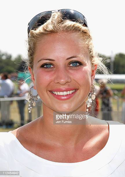 Holly Branson at the Cartier Tent during the Cartier International Polo held at Guards Polo Club on July 27 2008 in Windsor England