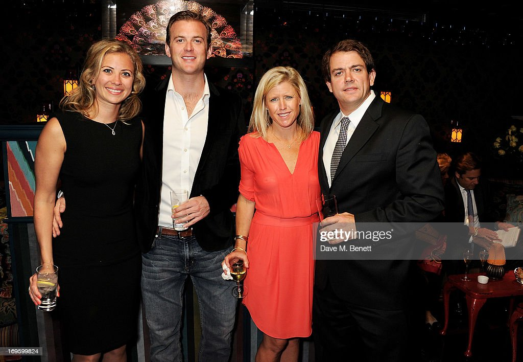 Holly Branson, Freddie Andrews, Megann Rundell and Derek Rundell attend the launch of 'The New Digital Age: Reshaping The Future Of People, Nations and Business' by Eric Schmidt and Jared Cohen, hosted by Jamie Reuben, at Loulou's on May 28, 2013 in London, England.