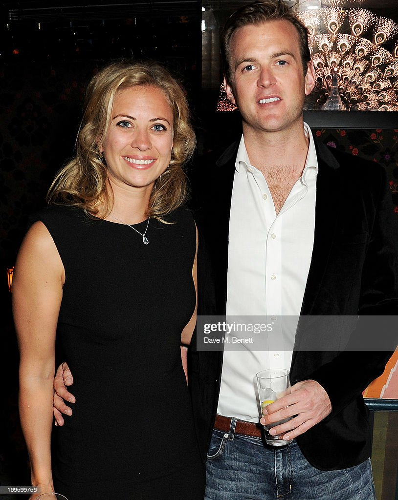Holly Brnason (L) and Freddie Andrews attend the launch of 'The New Digital Age: Reshaping The Future Of People, Nations and Business' by Eric Schmidt and Jared Cohen, hosted by Jamie Reuben, at Loulou's on May 28, 2013 in London, England.