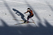 Holly Brooks of the United States competes during the Women's 30 km Mass Start Free during day 15 of the Sochi 2014 Winter Olympics at Laura...