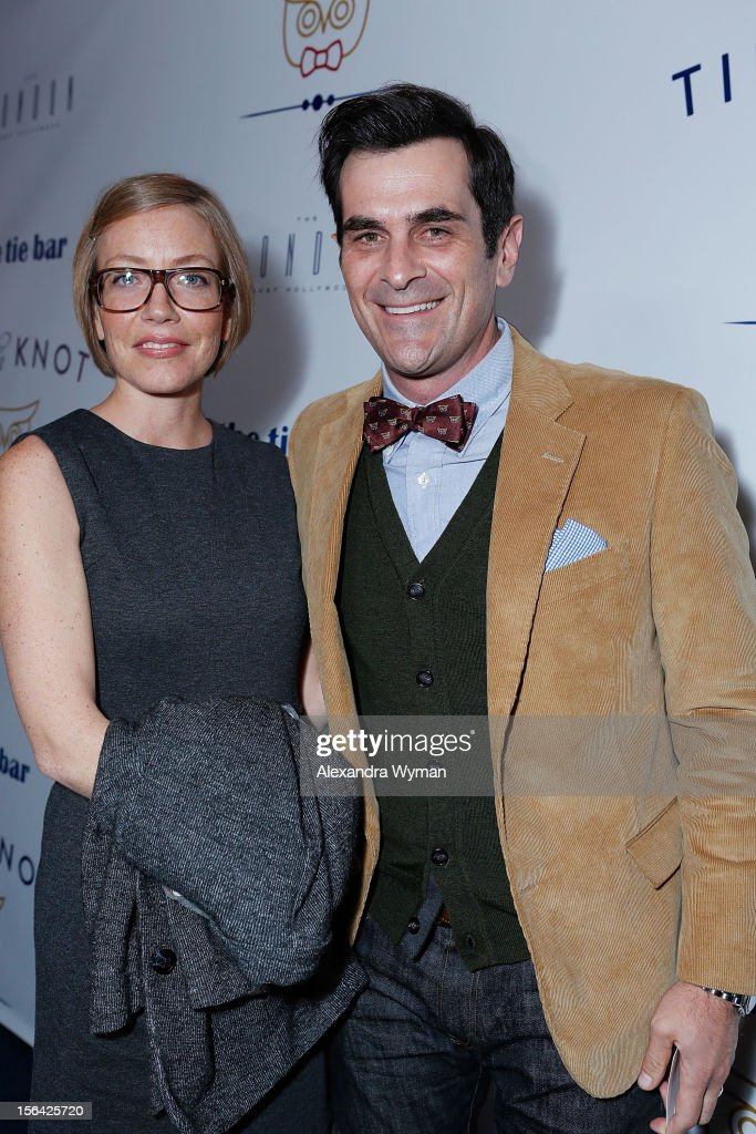 Holly Burrell and <a gi-track='captionPersonalityLinkClicked' href=/galleries/search?phrase=Ty+Burrell&family=editorial&specificpeople=700077 ng-click='$event.stopPropagation()'>Ty Burrell</a> at the launch of Tie The Knot, a charity benefitting marriage equality through the sale of limited edition bowties available online at TheTieBar.com/JTF held at The London West Hollywood on November 14, 2012 in West Hollywood, California.