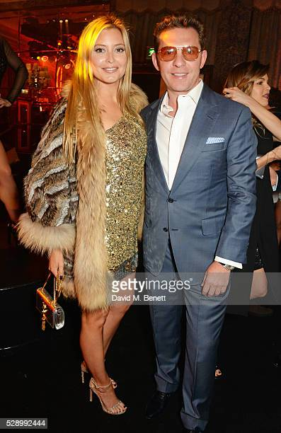 Holly Candy and Nick Candy attend a Studio 54 party hosted by Jess Imerman at The Dorchester on May 7 2016 in London England