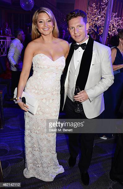 Holly Candy and Nick Candy attend Lisa Tchenguiz's 50th birthday party at the Troxy on January 24 2015 in London England