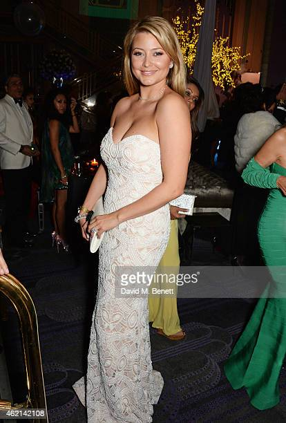 Holly Candy attends Lisa Tchenguiz's 50th birthday party at the Troxy on January 24 2015 in London England