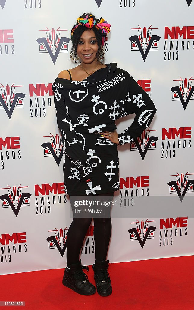 Holly Cook attends the NME Awards 2013 at the Troxy on February 27, 2013 in London, England.