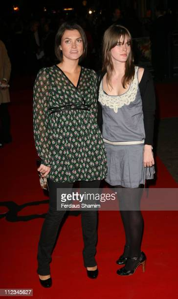 Holly Davidson and Guest during '300' London Premiere Outside Arrivals at Vue West End in London Great Britain