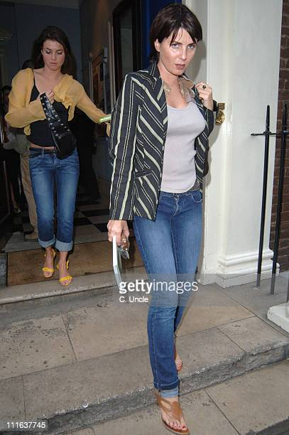 Holly Davidson and Sadie Frost during Doctor Joshi's 'Holistic Detox' Book Launch at Arts Club in London Great Britain