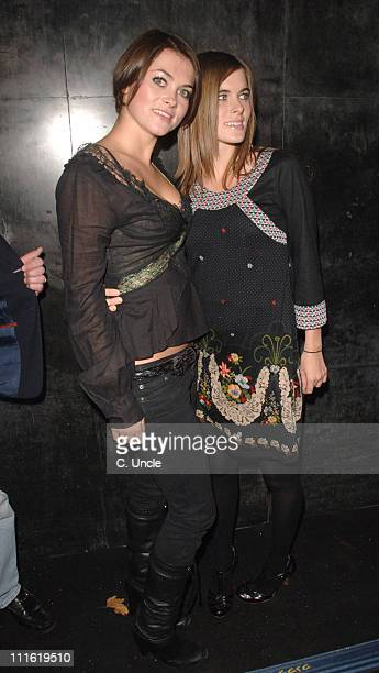 Holly Davidson and sister during Indian Infusion Party at Pangaea in London Great Britain