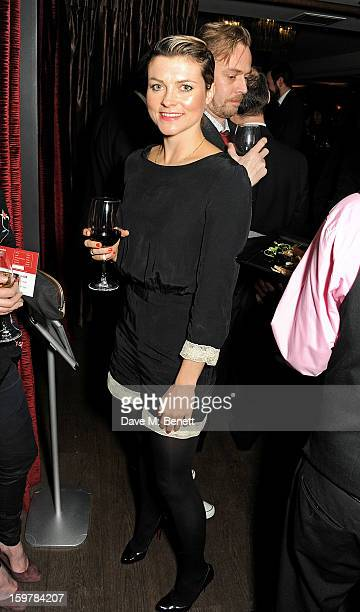 Holly Davidson attends an after party following the London Critics Circle Film Awards at Quince Restaurant The May Fair Hotel on January 20 2013 in...
