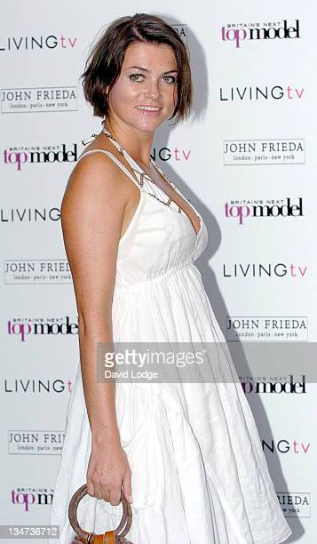 Holly Davidson during Britain's Next Top Model Launch Party Arrivals at Debenham House in London Great Britain