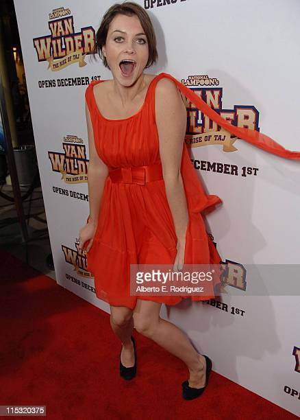 Holly Davidson during 'Van Wilder The Rise of TAJ' Los Angeles Premiere at Arclight Cinemas in Hollywood CA United States
