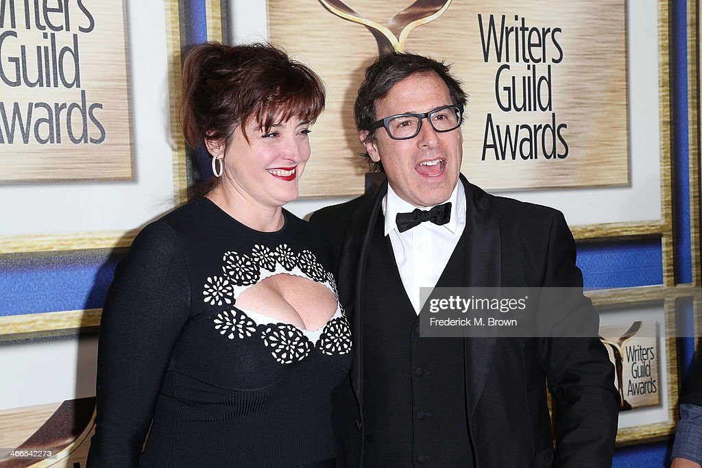 Holly Davis (L) and director/writer <a gi-track='captionPersonalityLinkClicked' href=/galleries/search?phrase=David+O.+Russell&family=editorial&specificpeople=215306 ng-click='$event.stopPropagation()'>David O. Russell</a> attend the 2014 Writers Guild Awards L.A. Ceremony at the JW Marriott Los Angeles at L.A. LIVE on February 1, 2014 in Los Angeles, California.