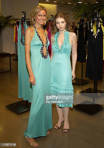 Holly Dunlap and Michelle Trachtenberg during Chandon at Hollywould Dress Launch Party at Saks 5th Ave Beverly Hills in Beverly Hills California...