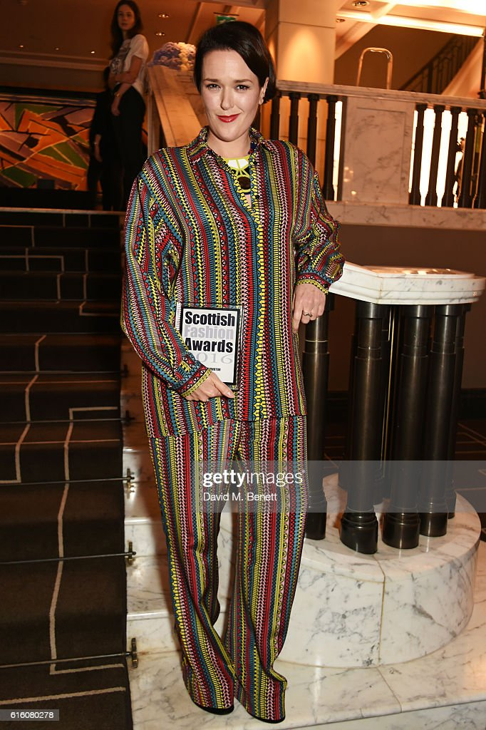 Holly Fulton, winner of the Innovator of the Year award, attends the Scottish Fashion Awards in association with Maserati at Rosewood Hotel on October 21, 2016 in London, England.