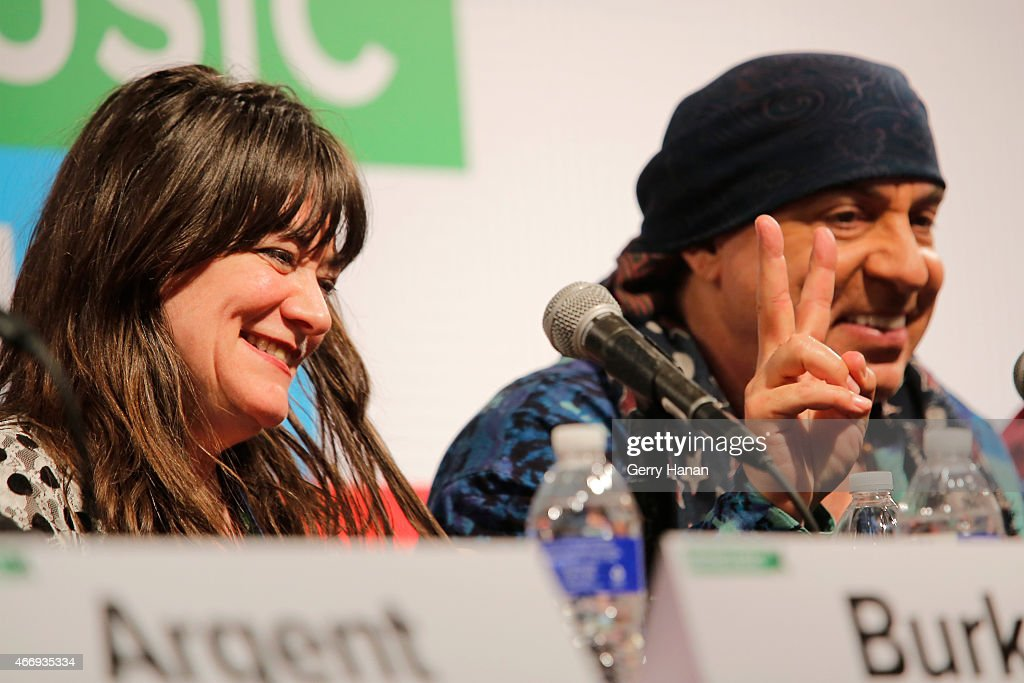 Holly George-Warren (L) and Steven Van Zandt speak onstage at 'The Who At 50' during the 2015 SXSW Music, Film + Interactive Festival at Austin Convention Center on March 19, 2015 in Austin, Texas.