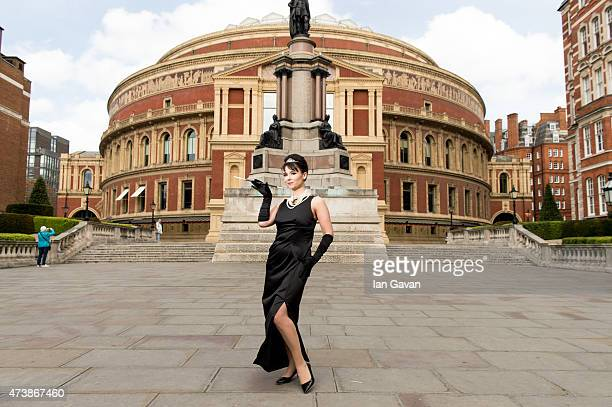 Holly Golightly recreates famous scenes from Breakfast at Tiffany's at the Royal Albert Hall to celebrate one month to go until the world premiere of...