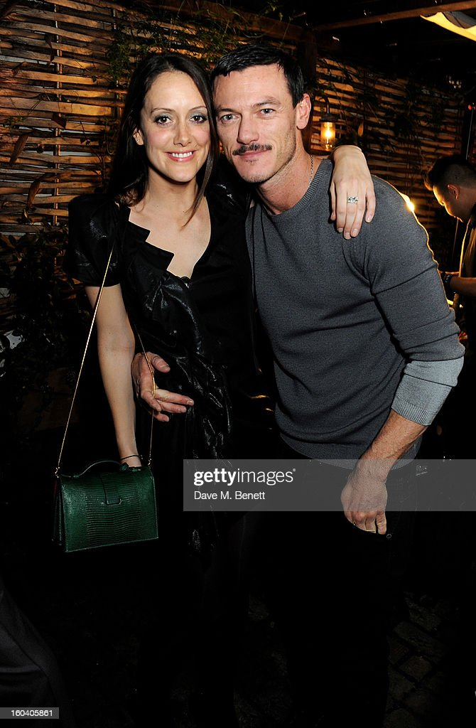 Holly Goodchild (L) and Luke Evans attend the InStyle Best Of British Talent party in association with Lancome and Avenue 32 at Shoreditch House on January 30, 2013 in London, England.
