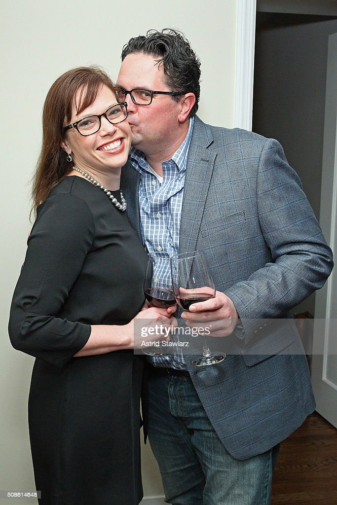 Holly Grahm (L) and Erik Caldwell attend an intimate evening of friends and colleagues at Mr. Colin Dougherty's New York City apartment on February 5, 2016 in New York City.