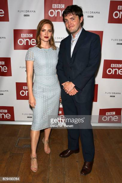 Holly Grainger and Tom Burke attend a preview screening of the BBC's 'Strike' at BFI Southbank on August 10 2017 in London England
