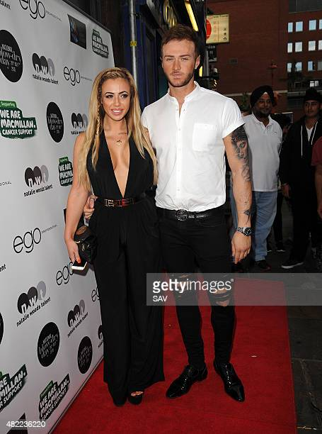 Holly Hagan arrives at The Ego Professional Macmillan Cancer Party on July 28 2015 in London England
