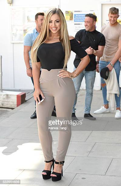 Holly Hagan arrives for the 5th birthday Celebrations of 'Geordie Shore' at MTV London on May 24 2016 in London England