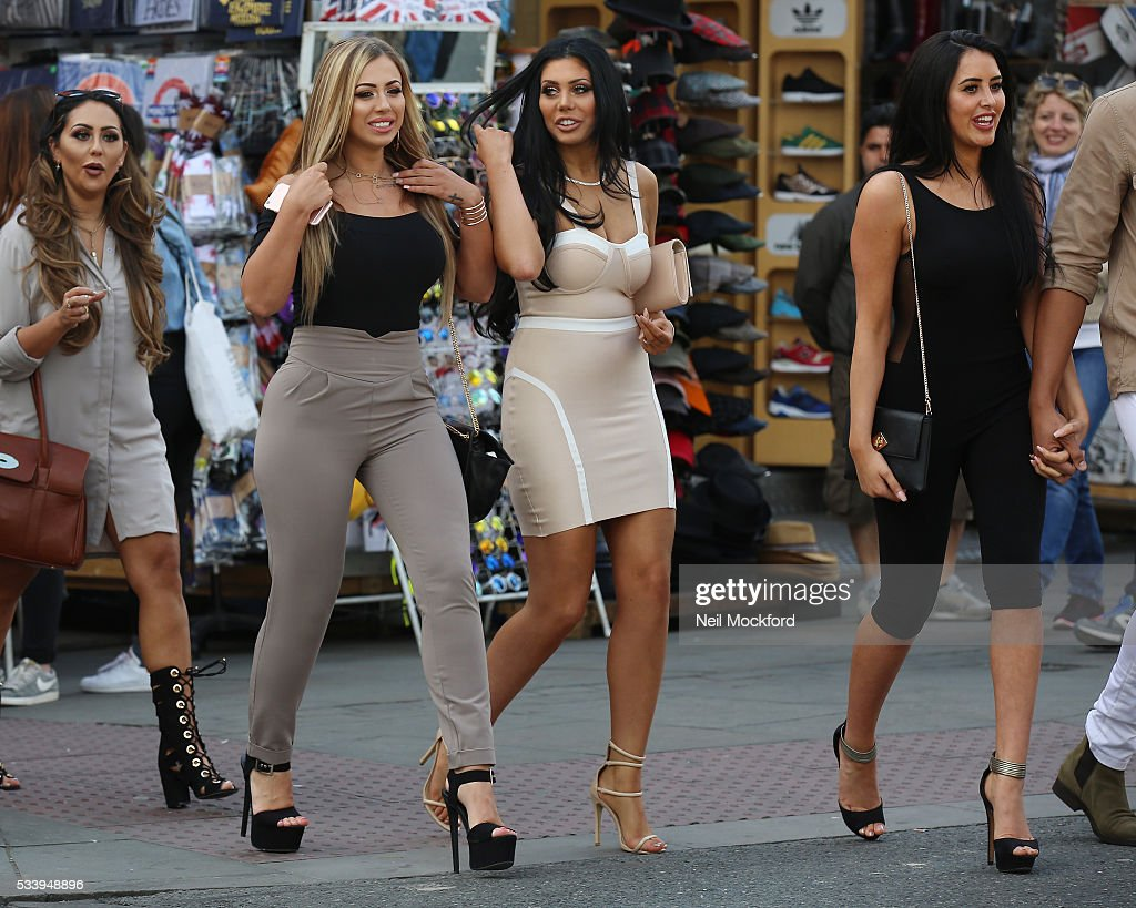 <a gi-track='captionPersonalityLinkClicked' href=/galleries/search?phrase=Holly+Hagan&family=editorial&specificpeople=7801727 ng-click='$event.stopPropagation()'>Holly Hagan</a>, Chloe Ferry and Marnie Simpson seen in Camden on May 24, 2016 in London, England.