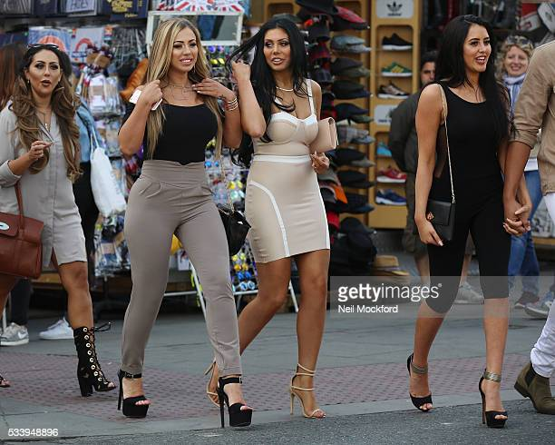 Holly Hagan Chloe Ferry and Marnie Simpson seen in Camden on May 24 2016 in London England