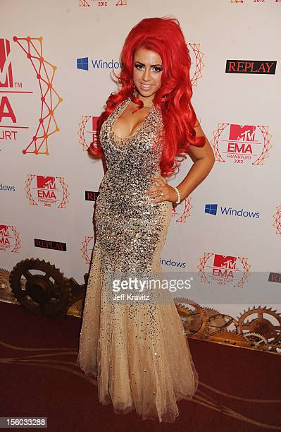 Holly Hagan of Geordie Shore attends the MTV EMA's 2012 at Festhalle Frankfurt on November 11 2012 in Frankfurt am Main Germany