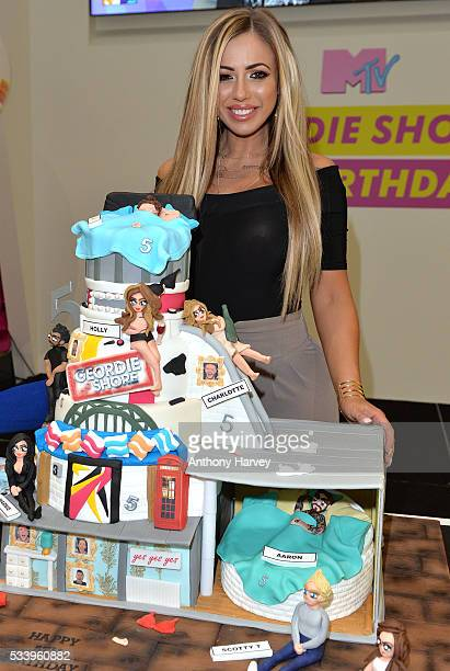 Holly Hagan of Geordie Shore celebrate their fifth birthday at MTV London on May 24 2016 in London England