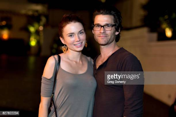 Holly Huebner and Johnny Whitworth attend 'Carte Blanche' Cast Party at Chateau Marmont on August 2 2017 in Los Angeles CA