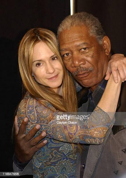 Holly Hunter and actor/executive producer Morgan Freeman