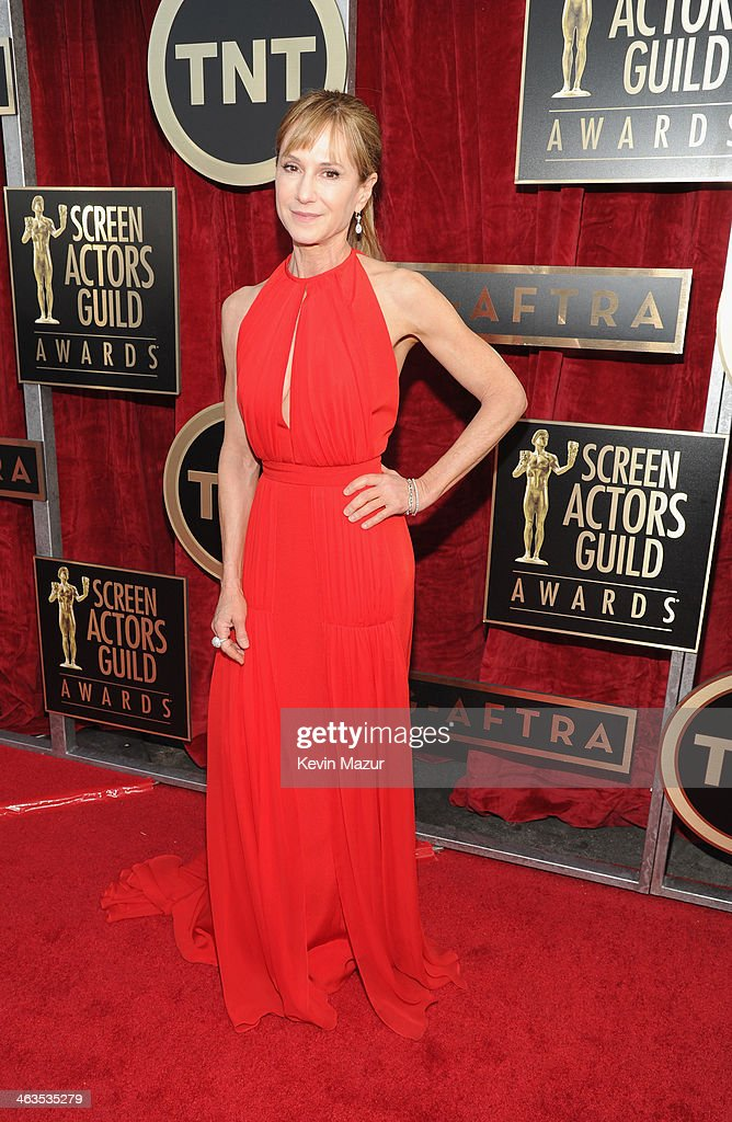 <a gi-track='captionPersonalityLinkClicked' href=/galleries/search?phrase=Holly+Hunter&family=editorial&specificpeople=201880 ng-click='$event.stopPropagation()'>Holly Hunter</a> attends 20th Annual Screen Actors Guild Awards at The Shrine Auditorium on January 18, 2014 in Hollywood, California.