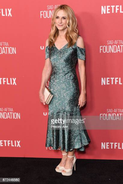 Holly Hunter attends SAGAFTRA Foundation Patron of the Artists Awards 2017 Arrivals at Wallis Annenberg Center for the Performing Arts on November 9...