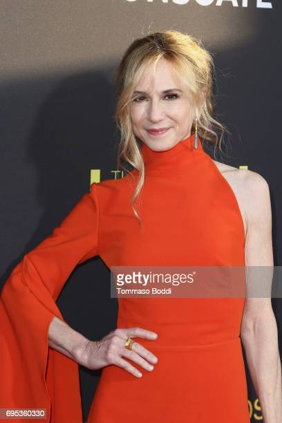 Holly Hunter attends the Premiere Of Amazon Studios And Lionsgate's 'The Big Sick' at ArcLight Hollywood on June 12 2017 in Hollywood California