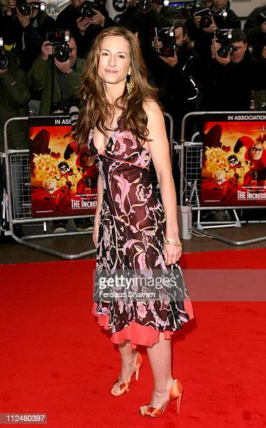 Holly Hunter during 'The Incredibles' London Premiere at Empire Leicester Square in London England Great Britain