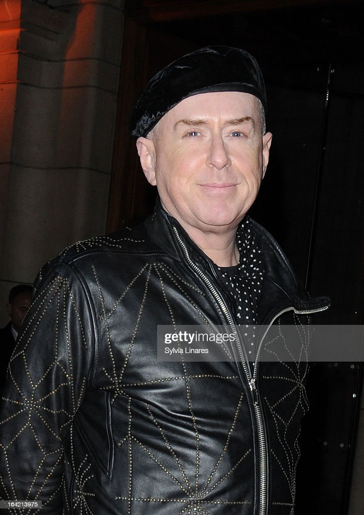 Holly Johnson attends the Private View of the 'David Bowie Is' Exhibition held at he Victoria and Albert Museum departures on March 20, 2013 in London, England.