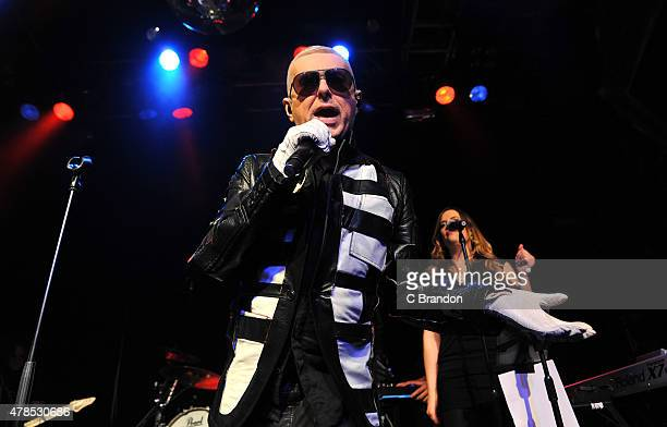 Holly Johnson performs on stage at O2 Academy Islington on June 25 2015 in London United Kingdom