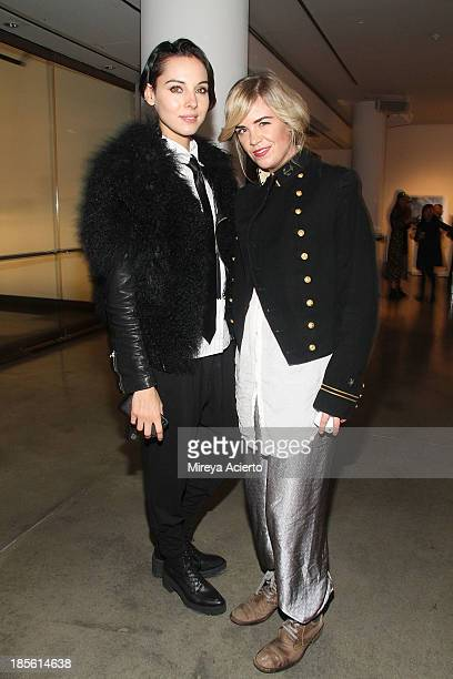 Holly Kiser and Molly Peters attend A Milk Gallery Project Presents BG BOOM Dusan Reljin at Milk Studios on October 22 2013 in New York City