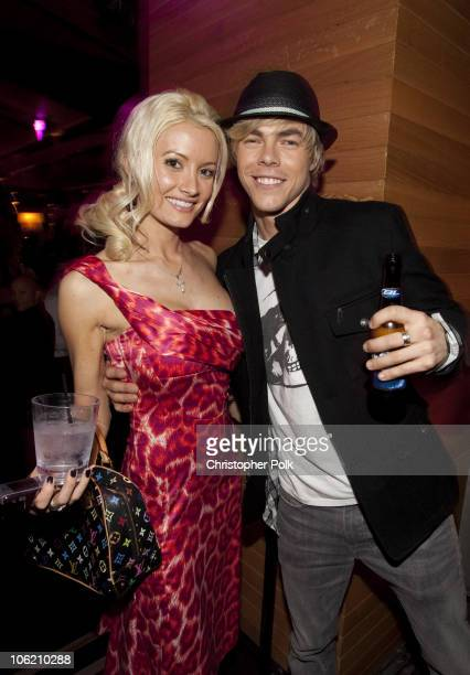 Holly Madison and Derek Hough at Us Weekly's celebration of the Hot Hollywood Style issue at MyHouse in Hollywood CA on April 22 2009