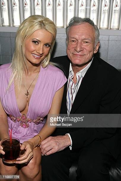 Holly Madison and Hugh Hefner during Playboy and Stoli Celebrate the Season 2 DVD Release of The Girls Next Door at Stoli Hotel Hollywood in...