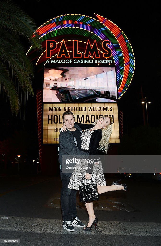 Holly Madison and Pasquale Rotella celebrate Holly Madison's birthday at Moon Nightclub at the Palms Casino Resort on December 28, 2013 in Las Vegas, Nevada.